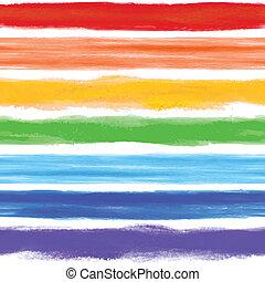 aquarela, arco íris, fundo, com, algum, listras