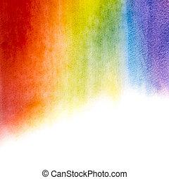 aquarela, arco íris, fundo