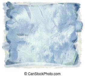 aquarela, azul, abstratos, fundo