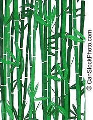 aquarela, bambu
