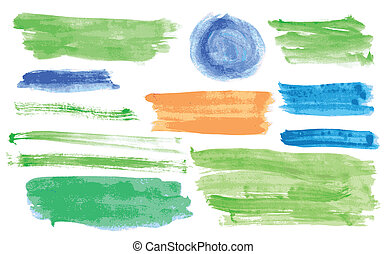 aquarela, bandeiras, vetorial, jogo