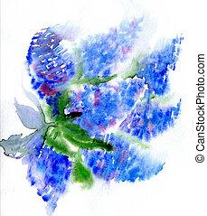 aquarela, branch., lilás