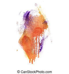 aquarela, desenhado, fundo, mão