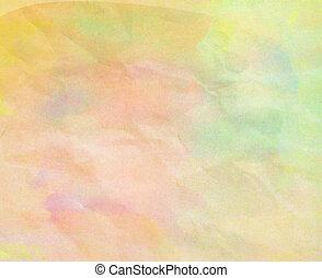 aquarela, desenhado, papel, fundo, mão