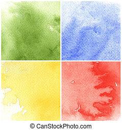 aquarela, desenho, fundo, coloridos, seu