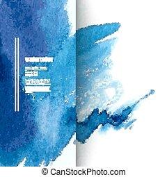 aquarela, experiência azul