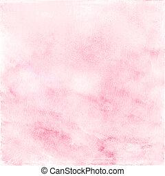 aquarela, fundo, cor-de-rosa