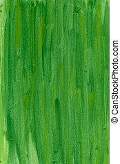 aquarela, fundo, verde