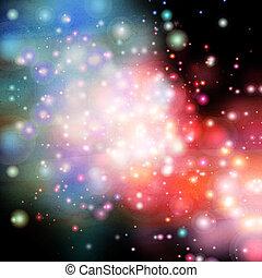 aquarela, grande, cósmico, fundo