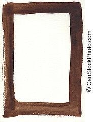 aquarela, grande, quadro, fundo