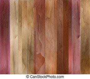 aquarela, madeira, fundo, textured, listrado, goiaba
