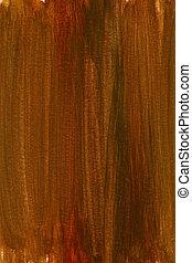 aquarela, marrom, experiência vermelha