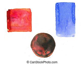 aquarela, padrão, bandeiras