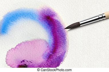 aquarela, pintado, abstratos