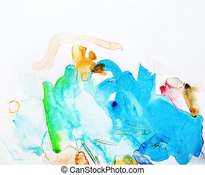 aquarela, pintura abstrata