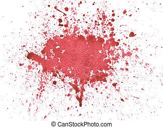aquarela, sangue