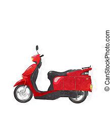 aquarela, scooter