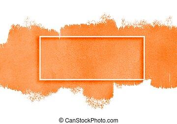 aquarela, textura, espaço, texto, laranja