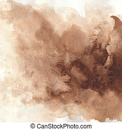 aquarela, tintas, textura áspera