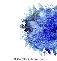 aquarell, blumen, blaues