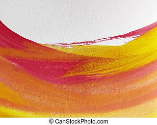 aquarell, gemalt, abstrakt, hintergrund