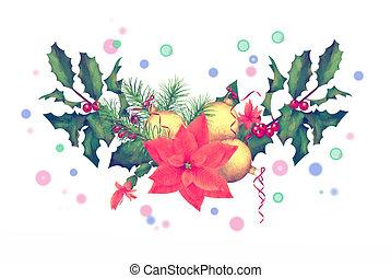 aquarell feiertag umrandungen weihnachtsgirlande clipart suche illustration zeichnung. Black Bedroom Furniture Sets. Home Design Ideas