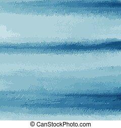 aquarelle, arrière-plan bleu, texture, vecteur