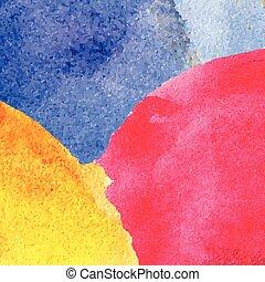 aquarelle, arrière-plan., résumé, coloré