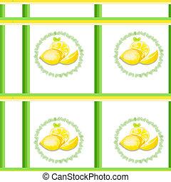 aquarelle, citron, texture
