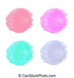 aquarelle, conception, coloré, taches