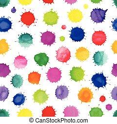 aquarelle, eclabousse, coloré