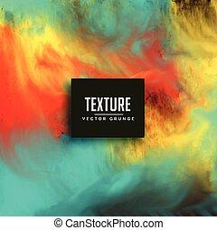 aquarelle, encre, texture, fond, écoulement