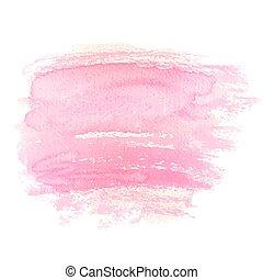 aquarelle, fond, pinceau, rose, grunge, résumé