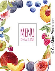 aquarelle, gabarit menu