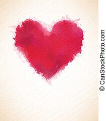 aquarelle, heart.