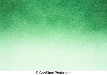 aquarelle, papier, vert, texture., fond