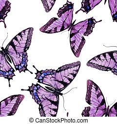 aquarelle, papillon, modèle