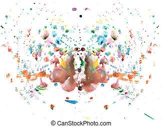 aquarelle, papillon, résumé, dessin