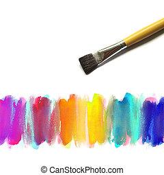 aquarelle, peint, résumé, fond, main
