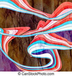 aquarelle, résumé, ondulé, fond