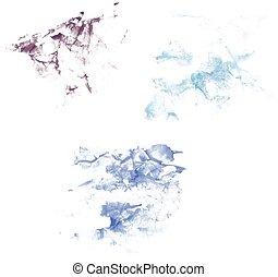 aquarelle, stain., illustration, vecteur