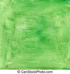 aquarelle, toile, résumé vert, texture