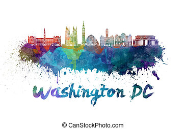 aquarelle, v2, horizon, washington dc
