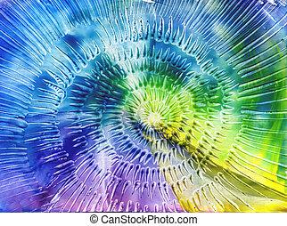 aquarelles, résumé, fond, dans, les, manière, de, spirales