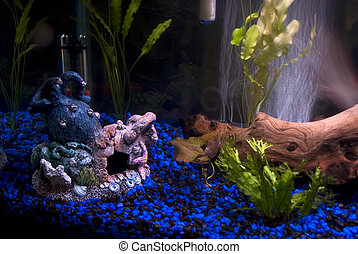 Aquarium Artifacts - Some fishtank decorations with bubbles...