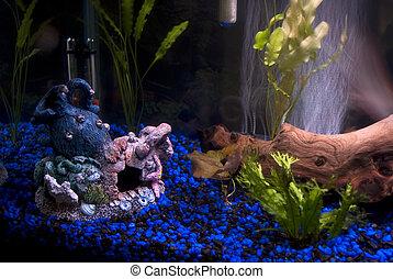 Aquarium Artifacts - Some fishtank decorations with bubbles...