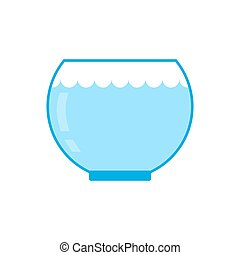 Aquarium empty isolated. Glass vessel with water to fish on ...
