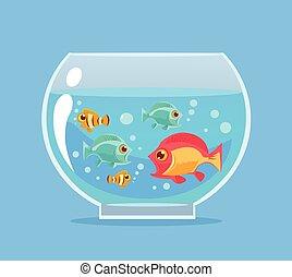R servoir fish illustration ou aquarium vecteur mer for Aquarium plat