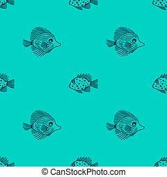 aquarium, gebrauch, geschäfte, markt, minze, shop., seaquarium, design, fische, hintergrund., fish., verpackung, reizend, muster, meer, gewebe, scrapbooking., grobdarstellung, seamless