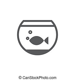 Aquarium icon on white background